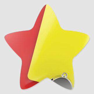 Sticker Étoile Attributs d'arbitre du football