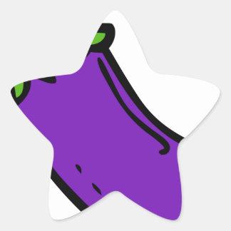 Sticker Étoile Aubergine