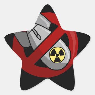Sticker Étoile Aucunes armes nucléaires