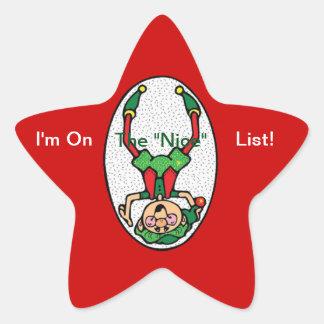 Sticker Étoile Autocollants--Elf gentil