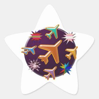 Sticker Étoile Avions