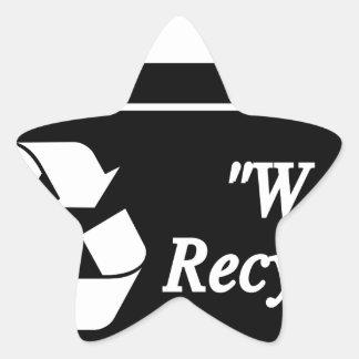 Sticker Étoile Bac de recyclage