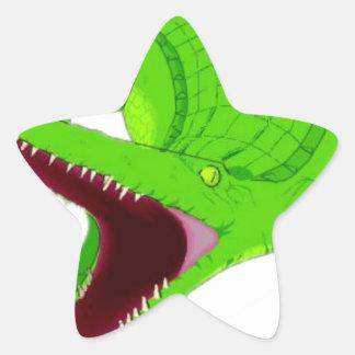 Sticker Étoile bande dessinée d'alligator