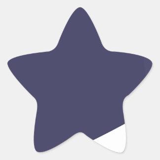 Sticker Étoile Bande dessinée d'aubergine