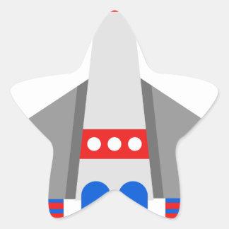 Sticker Étoile Bande dessinée de vaisseau spatial
