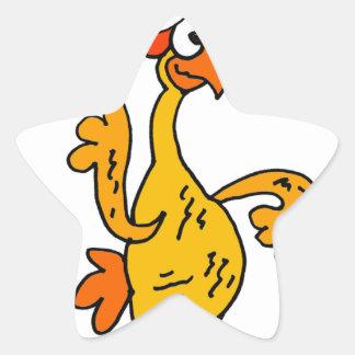 Sticker Étoile Bande dessinée en caoutchouc drôle de Noël de