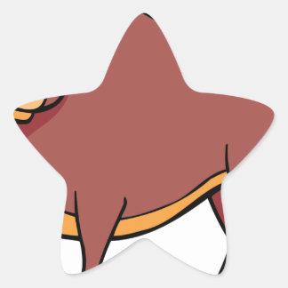 Sticker Étoile Bande dessinée fâchée de Taureau