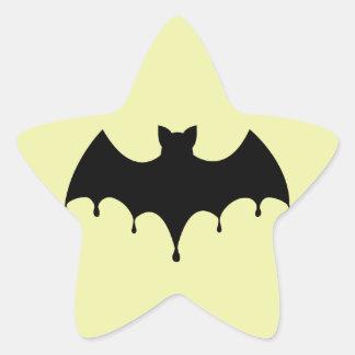 Sticker Étoile Batte noire
