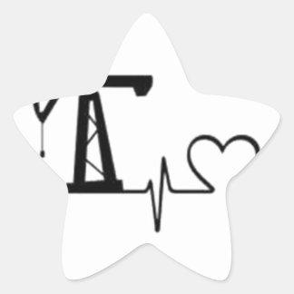 Sticker Étoile Battement de coeur de Jack de pompe