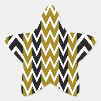 Sticker Étoile Battements de coeur de noir et d'or