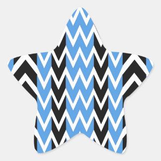 Sticker Étoile Battements de coeur noirs et bleus