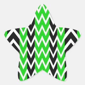 Sticker Étoile Battements de coeur noirs et verts