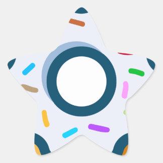 Sticker Étoile Beignet arrosé