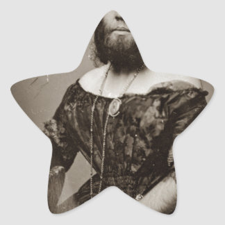 Sticker Étoile Belle Madame barbue