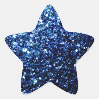 Sticker Étoile Belles étincelles bleu-foncé de scintillement