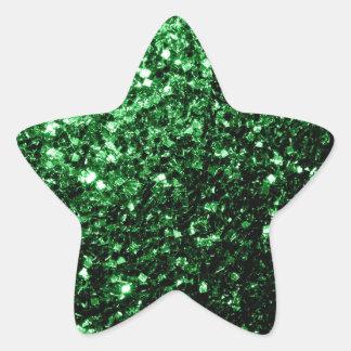 Sticker Étoile Belles étincelles de parties scintillantes de vert