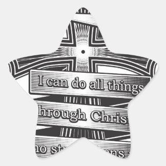 Sticker Étoile Bible de chrétien de 4h13 de Philippiens d'édition