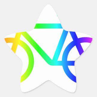 Sticker Étoile Bicyclette 3 d'arc-en-ciel