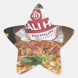 Sticker Étoile Bière et pizza de Bali