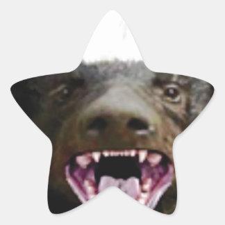 Sticker Étoile blaireau de miel de morsure de bouche