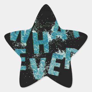 Sticker Étoile Bleu turquoise quoi que