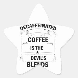 Sticker Étoile boisson drôle de café