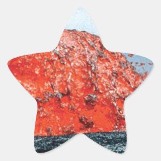 Sticker Étoile bosse d'écoulement de lave