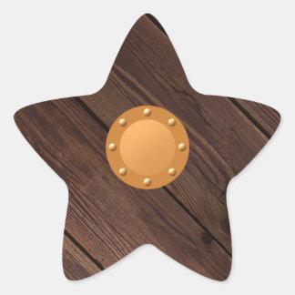 Sticker Étoile Bouclier