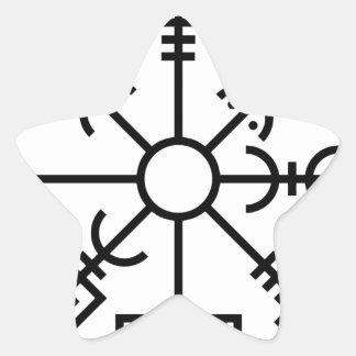 Sticker Étoile bouclier Odin des norses de symbole de Viking de