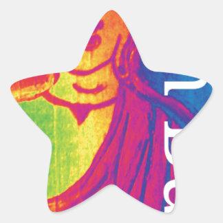 Sticker Étoile Bouddha cassé au néon