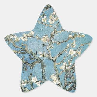 Sticker Étoile Branches d'amande de Vincent van Gogh | en fleur,