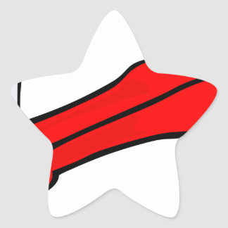 Sticker Étoile Brosse à dents et pâte dentifrice