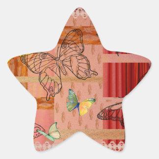Sticker Étoile butterfly