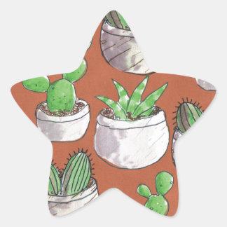 Sticker Étoile cactus