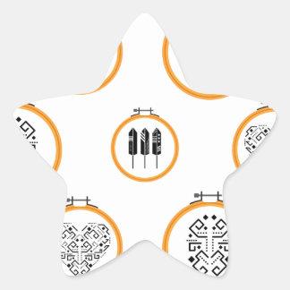 Sticker Étoile Cadres de broderie de tapisserie à l'aiguille