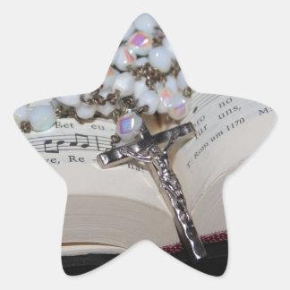 Sticker Étoile cahier de musique de chapelet