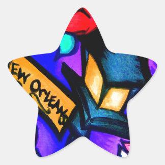Sticker Étoile Cajun Flava