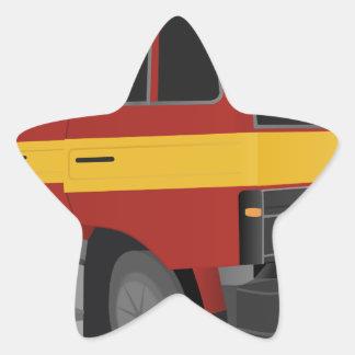 Sticker Étoile Camion de pompiers