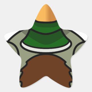 Sticker Étoile canard