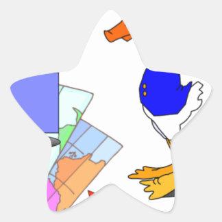 Sticker Étoile Canard dissonant
