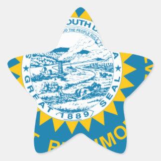 Sticker Étoile Carte de drapeau du Dakota du Sud