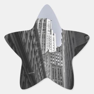 Sticker Étoile Centre Metropole de New York City de gratte-ciel