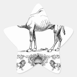 Sticker Étoile chameau de fantaisie de lion