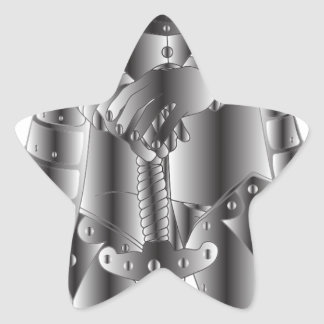 Sticker Étoile Chevalier en métal