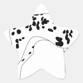 Sticker Étoile Chien de Dalmation