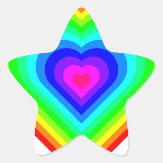 Sticker Étoile Coeur d'arc-en-ciel