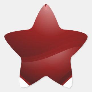 Sticker Étoile Coeur rouge