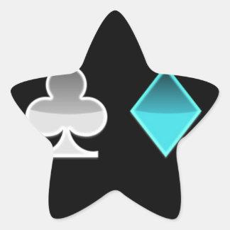 Sticker Étoile coeur trefle carreau pique