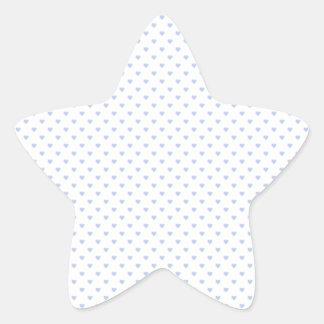 Sticker Étoile Coeurs bleus de polka d'Alice dans le jardin