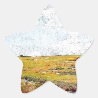 Sticker Étoile Collines ensoleillées de Shinnecock d'après-midi